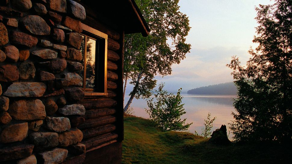 Lake cabin exterior colors joy studio design gallery for Lakeview cabin download