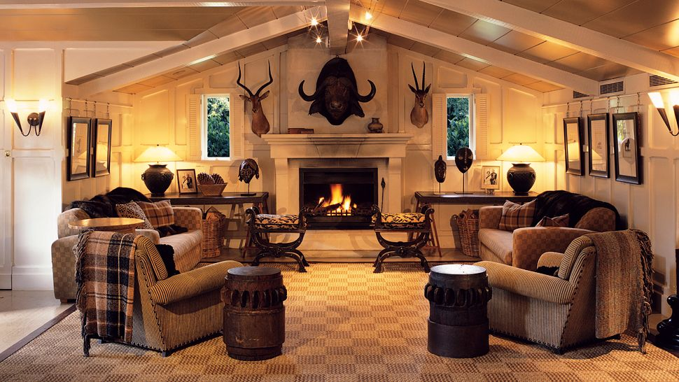 Huka lodge north island new zealand for Trophy room design