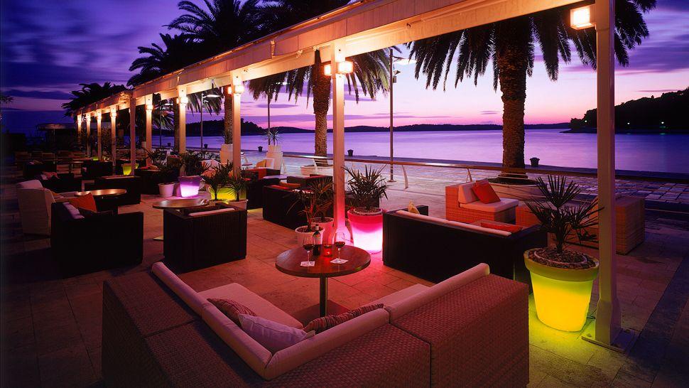 Riva, hvar yacht harbour hotel. Hvar, Croatia