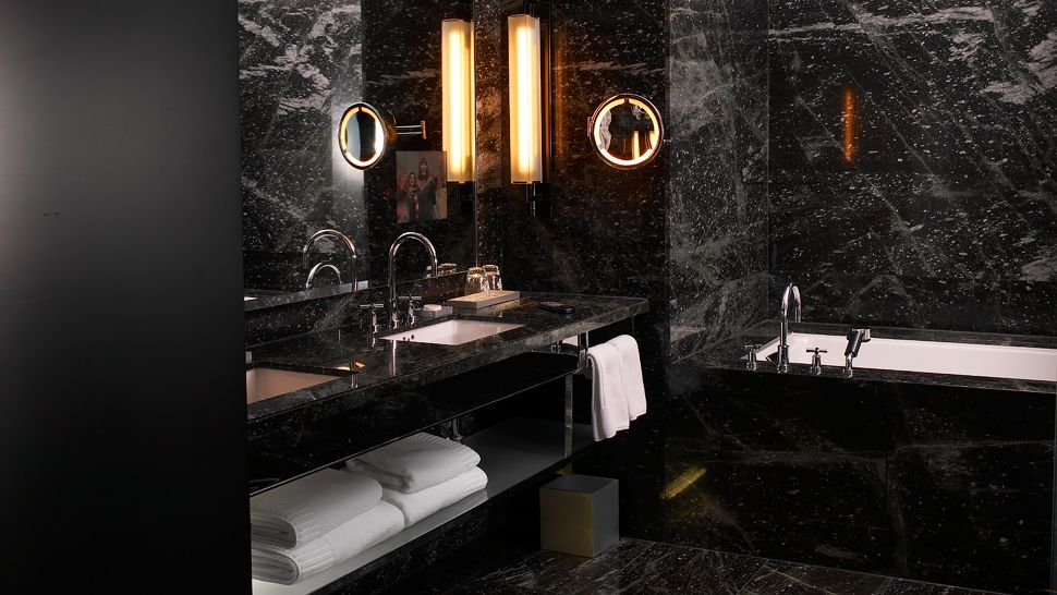 Amazing  With Black Tiles On Pinterest  Black Bathrooms Tile And Black Tiles